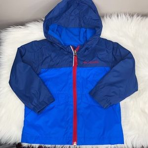 Blue Columbia Rain Jacket